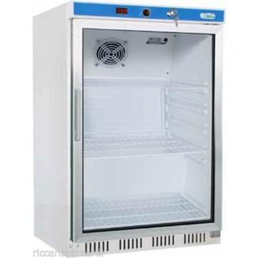 ARMADIO FRIGORIFERO 1 ANTA VETRO +2/+8 C BIANCO frigoriferi professionali 130 Lt