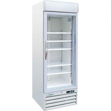 Vetrina refrigerata 1 anta vetro -18°/-22° C bianca freezer professionale 420 L
