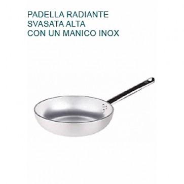 PADELLA SVASATA Alluminio 5 Ø cm 20 X5,5H Radiante Professionale Pentole Agnelli