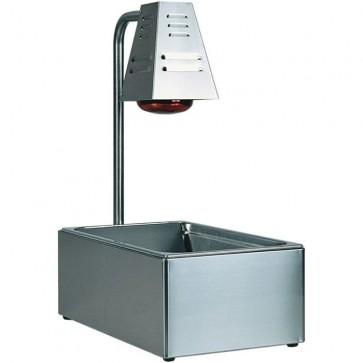 CONTENITORE GN1/1 cm 33X60X68H Mantenitore Caldo FRITTI professionale infrarossi