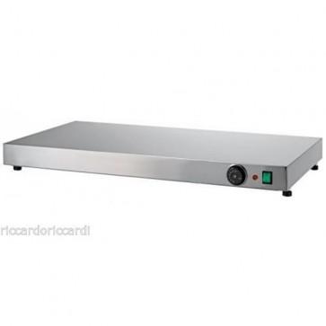 PIANO CALDO cm 90X45X6H IN ACCIAIO INOX Professionale Mantenimento Pizza 90 C