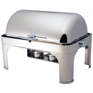 CHAFING DISHES coperchio roll top 180° cm 65x47x45H professionale scaldavivande