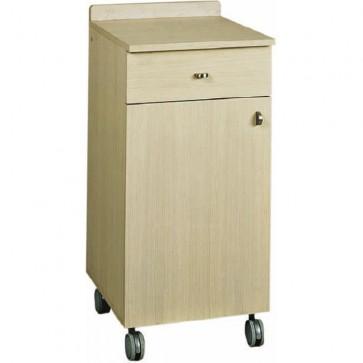 Mobile di sala legno rovere sbiancato sportello cassetto cm 45x48x95H servizio