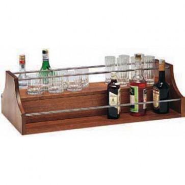 ACCESSORI PER CARRELLI LEGNO ACCIAIO Espositore liquori BAR PUB bottiglie legno