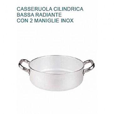 CASSERUOLA Alluminio 5 Ø cm24X8H Radiante 2 Manici Professionale Pentole Agnelli