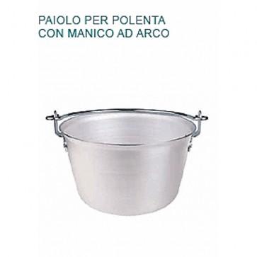 PAIOLO POLENTA Alluminio Ø cm 46X36H MANICO ARCO Professionale Pentole Agnelli