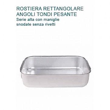 ROSTIERA Alluminio cm 39X26X8H PESANTE 2 MANIGLIE Professionale Pentole Agnelli