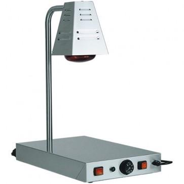 PIANO CALDO cm 33X58X68H ACCIAIO 1 lampada Infrarossi Professionale Mantenimento