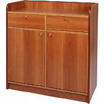 Mobile di sala in legno noce sportelli cassetti cm 95x49x99H madia servizio