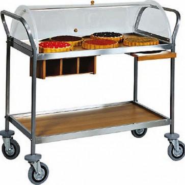 Carrello Servizio dolci formaggi antipasti professionale Cupola PLX 108 X 50
