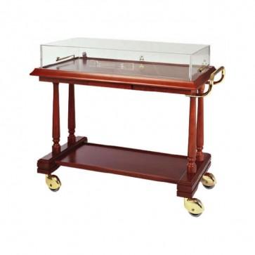 Carrello servizio in legno Coperchio PLX 3 piani antipasti Dolci ristoranti 113