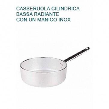 CASSERUOLA Alluminio 5 Ø cm28X9H Radiante 1 MANICO Professionale Pentole Agnelli