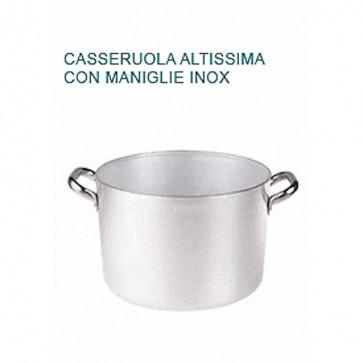 CASSERUOLA ALTISSIMA Alluminio Ø cm14X10H 2 MANICI Professionale Pentole Agnelli