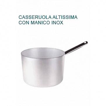 CASSERUOLA ALTISSIMA Alluminio Øcm22X15,5H 1MANICO Professionale Pentole Agnelli
