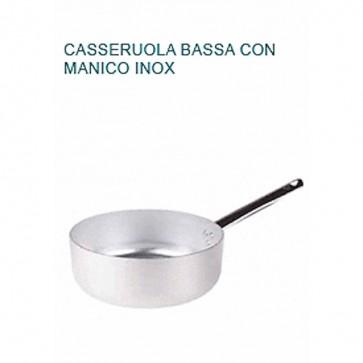 CASSERUOLA BASSA Alluminio Ø cm 20X7H 1 MANICO Professionale Pentole Agnelli