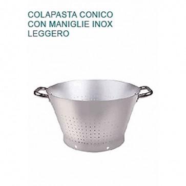 COLAPASTA In Alluminio Ø cm 40X23H CONICO LEGGERO Professionale Pentole Agnelli