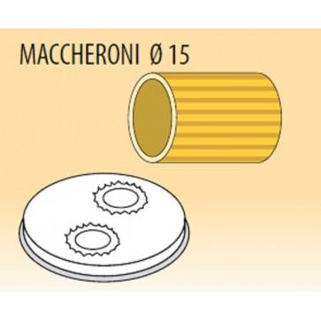 Trafila maccheroni Ø mm 15 lega ottone bronzo per macchina pasta Fimar MPF2,5N e MPF4N