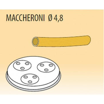 Trafila maccheroni Ø mm 4,8 lega ottone bronzo per macchina pasta Fimar MPF2,5N e MPF4N