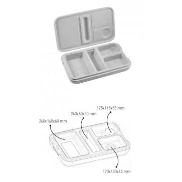 Vassoio isotermico con coperchio per trasporto pasti caldi freddi mm 530X325X133