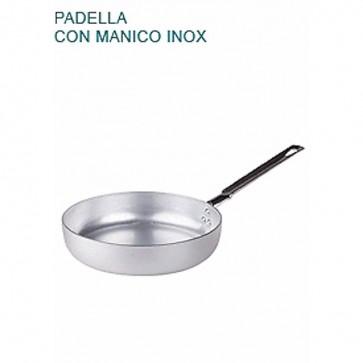PADELLA BASSA In Alluminio Ø cm32X6,5H Con 1 MANICO mm 2 Saltare Pentole Agnelli
