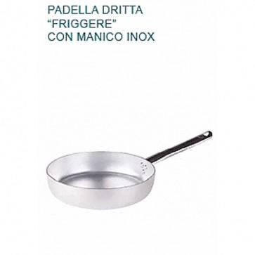 PADELLA DRITTA FRIGGERE Ø cm26X5,5H Alluminio 3 mm Professionale Pentole Agnelli