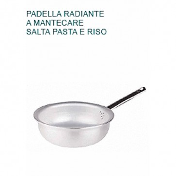 PADELLA MANTECARE Ø cm24X9,5H Alluminio 5 Radiante Professionale Pentole Agnelli