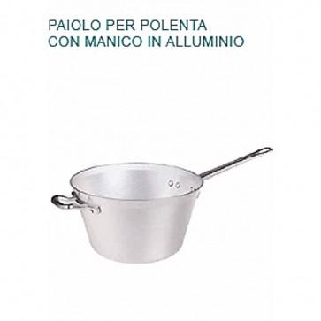 PAIOLO POLENTA Alluminio Ø cm 22X14H 2 MANICI Professionale Pentole Agnelli