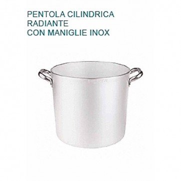 PENTOLA Alluminio mm5 Ø cm24X22H Radiante 2 MANICI Professionale Pentole Agnelli