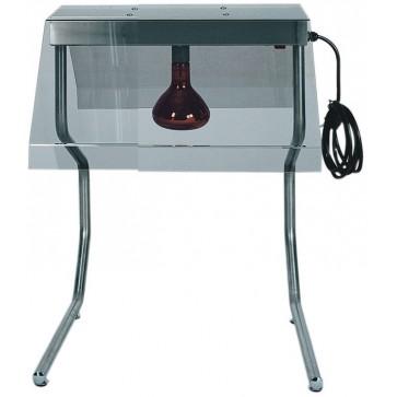 Telaio 1 lampada ad infrarossi cm 45X55X70H per mantenimento a caldo dei cibi