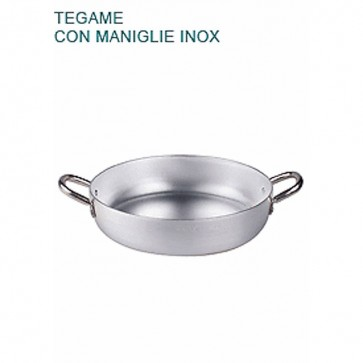 TEGAME In Alluminio Ø cm 16X4H Padella Bassa 2 mm Professionale Pentole Agnelli
