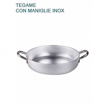 TEGAME In Alluminio Ø cm 18X5H Padella Bassa 2 mm Professionale Pentole Agnelli