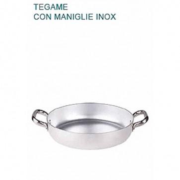 TEGAME In Alluminio Ø cm34X6,7H Padella Bassa 3 mm Professionale Pentole Agnelli