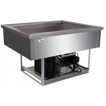 Vasca refrigerata 2 GN 1/1 +2°/+8° C cm 77X68X54,5H Da Incasso Drop In Statica