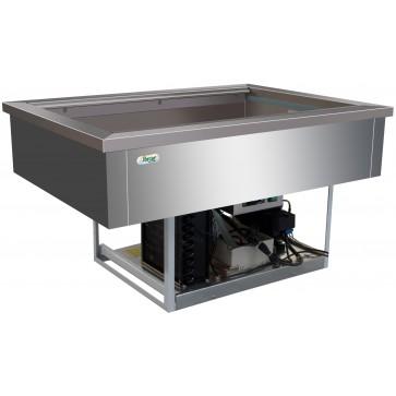 Vasca refrigerata 3 GN 1/1 +2°/+8° C cm 110X68X54,5H Da Incasso Drop In Statica