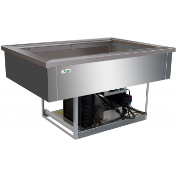 Vasca refrigerata 3 GN 1/1 -5°/+5° C cm 110X68X54,5H Da Incasso Drop In Statica