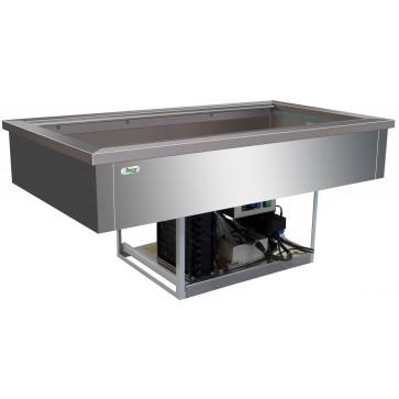 Vasca refrigerata 4 GN 1/1 -5°/+5° C cm 144X68X54,5H Da Incasso Drop In Statica