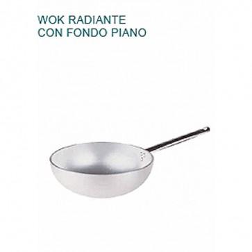WOK FONDO SVASATO Alluminio 5 Øcm28X10,5H Radiante Professionale Pentole Agnelli