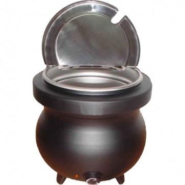 Zuppiera elettrica professionale 10 litri 230 V 600 W bagnomaria acciaio inox