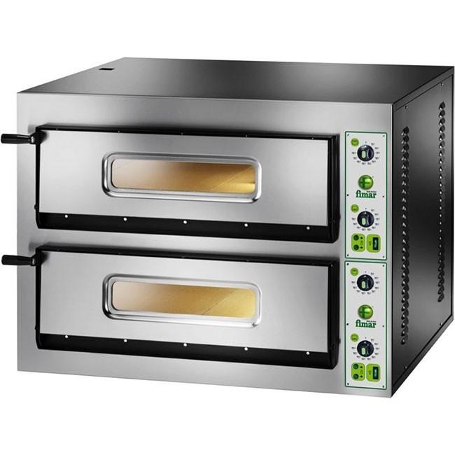 Forno elettrico pizza 2 camere cm 61x61 tf 400 v professionale 8400 watt pizze cottura - Pizza forno elettrico casa ...