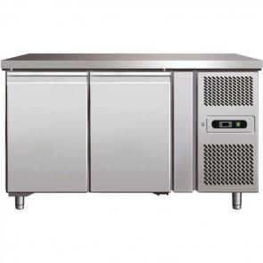 TAVOLO REFRIGERATO 2 ANTE GASTRONOMIA -2° +8° inox professionale base frigo