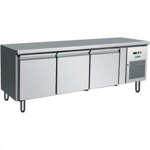 TAVOLO REFRIGERATO ALTEZZA CM 65 3 ANTE  -2° +8° inox professionale base frigo
