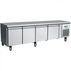 TAVOLO REFRIGERATO ALTEZZA CM 65 4 ANTE  -2° +8° inox professionale base frigo