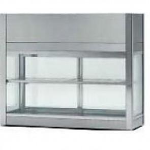 Vetrinetta refrigerata ventilata acciaio inox 18/10 professionali LUCI LED 4710