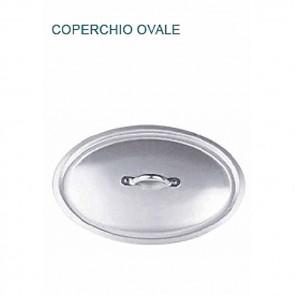 COPERCHIO OVALE IN ALLUMINIO cm 40X28 mm 3 Manico Professionale Pentole Agnelli