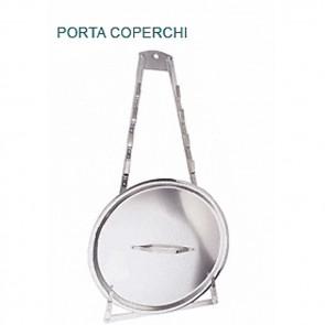 PORTA COPERCHI ALLUMINIO H cm 110 PORTACOPERCHIO Professionale Pentole Agnelli
