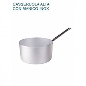 CASSERUOLA ALTA In Alluminio Ø cm 24X13H 1 MANICO mm 2 Padella Pentole Agnelli