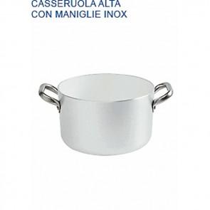 CASSERUOLA ALTA Alluminio Ø cm 22X12H 2 MANIGLIE mm 2 Padella Pentole Agnelli