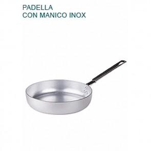 PADELLA BASSA In Alluminio Ø cm30X6,5H Con 1 MANICO mm 2 Saltare Pentole Agnelli