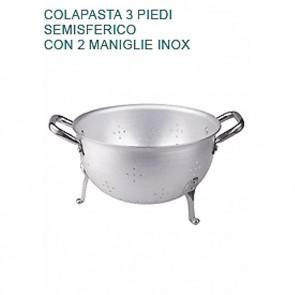 COLAPASTA In Alluminio 2 mm Ø cm 26 A Tre Piedi Professionale Pentole Agnelli