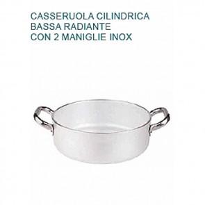 CASSERUOLA Alluminio 5 Ø cm28X9H Radiante 2 Manici Professionale Pentole Agnelli